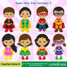 African American Superhero Clipart, Superhero Clipart, Supergirl Clipart