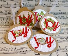 Joy Ornament holiday tags by Jacquie J - Cards and Paper Crafts at Splitcoaststampers
