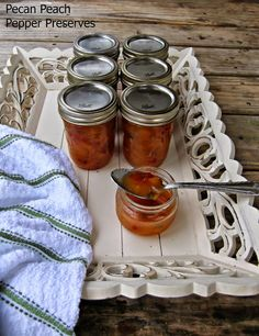What's For Supper?: Pecan Peach Pepper Preserves
