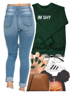 """.."" by renipooh ❤ liked on Polyvore featuring adidas and MICHAEL Michael Kors"