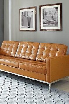 sofá couro