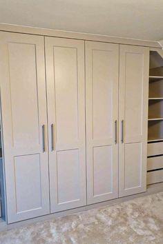 Fitted Wardrobe Interiors, Fitted Wardrobe Doors, Fitted Wardrobe Design, Fitted Wardrobes, Diy Built In Wardrobes, Built In Lockers, Most Popular, Master Bedrooms, Wardrobe Ideas