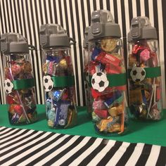 Soccer birthday party favors sports bottle #soccer #partyfavors #sportsbottle Football Party Favors, Sports Themed Birthday Party, 50th Birthday Party Decorations, Soccer Birthday Parties, Football Birthday, Birthday Party Favors, 9th Birthday, Kids Sports Party, Soccer Sports