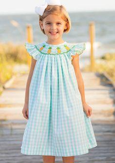 7c86fd652b4 Shrimp   Grits Kids - Girls Smocked Monogrammed Appliqued Outfits
