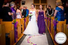mother of the bride walking her daughter down the aisle, mom and daughter on wedding day