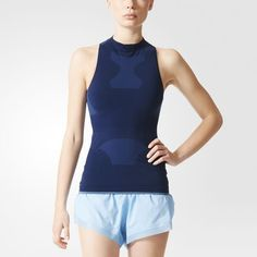 hot sales 945f4 1be5b Move freely in the adidas by Stella McCartney Running Seamless Tank Top.  Stella s chic performance mock turtleneck comes in structured seamless knit  fabric ...