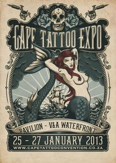 2013 Cape Town International Tattoo Convention Poster