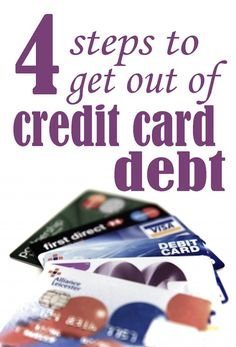 4 Steps to get out of credit card debt, including balance transfers, lowering interest rates, which to pay first, and how to stay out of credit card debt   Financegirl Debt Payoff, Credit Card Debt #Debt managing debt, debt management