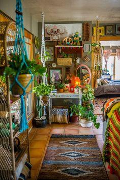 Boho home decor tour a on farm apartment therapy bohemian wholesale diy . boho home decor Bohemian House, Boho Home, Bohemian Living, Modern Bohemian, Hippie House Decor, Bohemian Style Bedding, Funky Home Decor, Natural Home Decor, Diy Home Decor