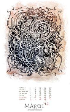 irina vinnik calendarios ilustados