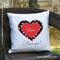 Heart Love for Her © Personalised Cushions at Perfico.com