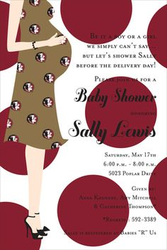 Florida State Baby Shower Invitations - not that this will ever happen in my life