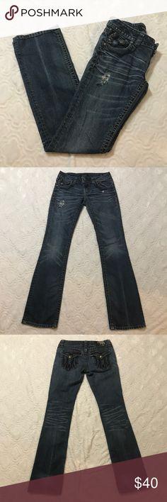 "MEK jeans (k) MEK ""Dayton"" slim boot jeans size 26 MEK Jeans Boot Cut"