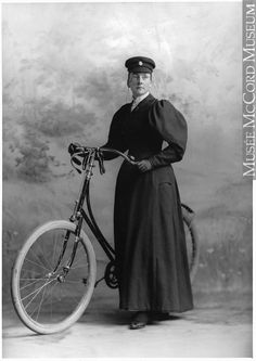 Mrs. McCormick and bicycle, Montreal, QC, 1895, II-112395 © McCord Museum