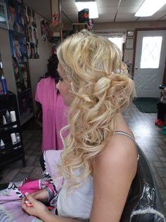 Vicki's Styling Station - Quinnesec, MI - Long hair Prom / Wedding / Bridesmaid Updo (Side View) - Prom 2014 (Vita)