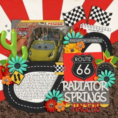 Using Trio Pack 29: Pit Stop template by Cindy Schneider  and #Believe in Magic - Pit Stop by Amber Shaw and Studio Flergs