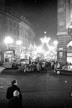 London Xmas lights around 1960