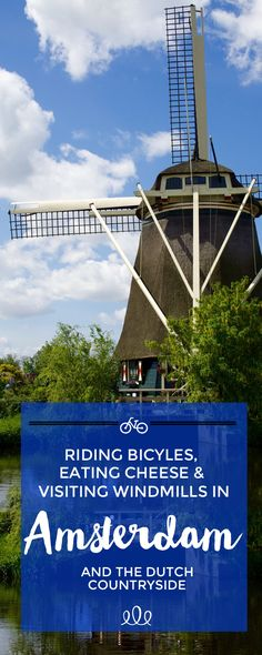 Here is a fantastic pointer for your Amsterdam travel: the best way to see the whole city of Amsterdam is to take a trip by bike. Visit Amsterdam, Amsterdam City, Amsterdam Travel, Amsterdam Netherlands, Windmills In Amsterdam, Amsterdam Bicycle, Anne Frank, Visit Holland, Amsterdam Red Light District
