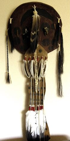 scalp  Sioux | This is a Pre-1840 Sioux War Shield. It is buffalo rawhide over a ...
