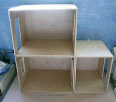 Make a simple dolls house scale roombox from Baltic Birch Plywood. 2x2x2 feet would be  a good AG size to make.