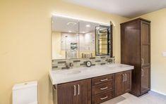 Natural Contemporary Master Bathroom #modern #bathroom #homedecor #bathroomideas #bathroomdesign #remodeling #interiordesign Bathroom Modern, Master Bathroom, Bathroom Vanities, Bathroom Renovations, Home Remodeling, Pebble Shower Floor, Custom Shower Doors, Neo Angle Shower