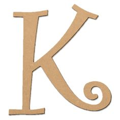 8 inch Curly Letter K, 1 Each, Brown Light Letters, Diy Letters, Letter K, Craft Accessories, Lettering Styles, Decorating Your Home, Create Yourself, Coloring Pages, Embellishments