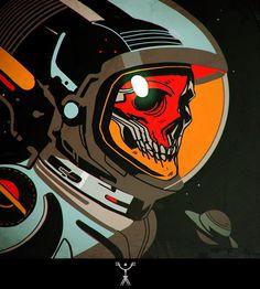 Новости #astronaut #skull  #colorful