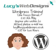 Wordpress Training course 2.30pm 8th May