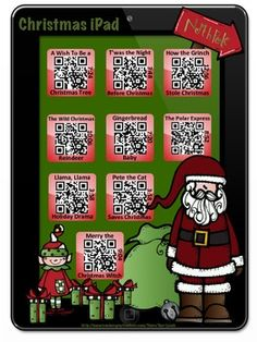 Christmas Stories~Listening Center with a Twist! Students scan the QR Code with a technology device to enjoy a story! There are nine stories including Pete the Cat Saves Christmas by Eric Litwin and T'was the Night Before Christmas by Clement Clarke Moore. Check out all my iPad and iPod stories in my TpT Store!