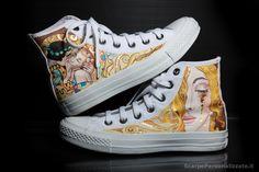 Scarpe dipinte a mano-arte contemporanea
