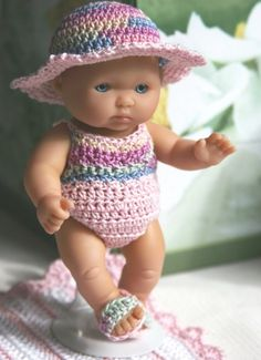 Crochet outfit for Berenguer 5 inch Lots to от dollcrochetboutique