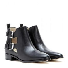 MICHAEL Michael Kors - Anya leather ankle boots #ankleboots #michaelkors #designer #covetme #michaelmichaelkors