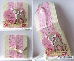 Handmade gift envelope by DT member Marleen with Collectables Eline's Deer (COL1401), Craftables Heart - Basic Shape (CR1351) and Grass (CR1355) from Marianne Design