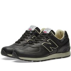 Buy the New Balance - Made in England in Black from leading mens fashion retailer END. - only Fast shipping on all latest New Balance products New Balance Men, New Balance Shoes, Things To Buy, Stuff To Buy, School Sports, Fresh Kicks, Sports Shoes, Black Leather, England