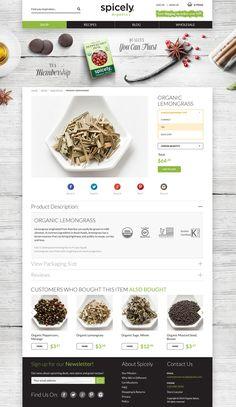 Spicely Organics in San Francisco by Paweł Skupień, via Behance  #web #design #ecommerce