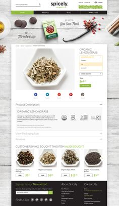 #ecommerce product page. description, social share, review, related product. #webdesign