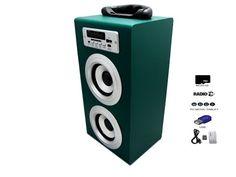 Altavoz Caja Portátil Con Radio, MicroSD, SD, USB, MP3  y Con Batería Recargable - http://complementoideal.com/producto/altavoz-con-radio-microsd-y-usb-modelo-9492/  -