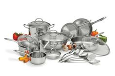 Wolfgang Puck 18-pc. Stainless Steel Cookware Set