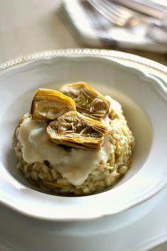 Chiarapassion: Risotto ai carciofi con crema al parmigiano reggiano