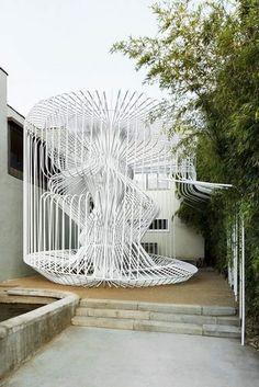 See the Human-Sized Architectural Birdcage of Silver Lake - Art-chitecture - Curbed LA