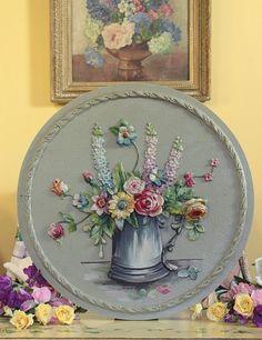 old barbola plaque   Vintage Home Blog