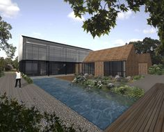 Steadings. Exterior elevation. Contemporary Architecture. Hawkes. NPPF 55.