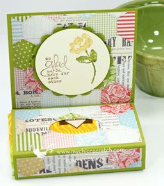 Angie has a video tutorial on creating this fabulous tissue holder! This version uses Oh Hello, Bloomin' Marvelous (SAB), & Tea for Two dsp.