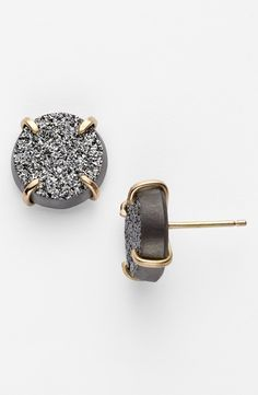 Melissa Joy Manning Drusy Stud Earrings.