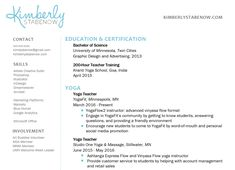 New Yoga Teacher Resume Sample Yoga Inspiration Pinterest Yoga