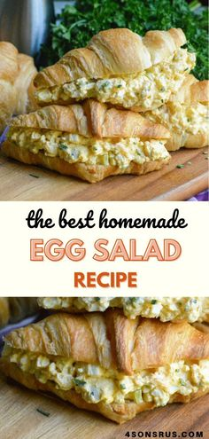 Look no further for the very best egg salad recipe ever! Packed with flavor from a carefully chosen blend of spices and full of creamy texture and a hint of crunch, this version of the classic will knock your socks off! #eggsalad #sandwich #recipe