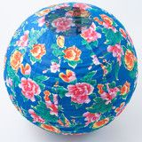 Flower fabric lantern in blue from Sunday in Color