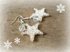 Twinkle twinkle little star... stunning sparkling star earrings. Perfect to slip in a stocking or as a small gift under the tree. By www.reccabella.etsy.com