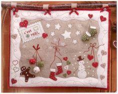 THE CINNAMON PATCH - Feutrine C'est Noël (Création Marie SUAREZ) - Des Filles et une Aiguille