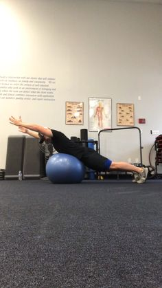 Rotator Cuff Exercises, Stability Ball Exercises, Balance Exercises, Shoulder Rehab Exercises, Shoulder Workout, Trx Training, Athletic Training, Gym Workouts, At Home Workouts
